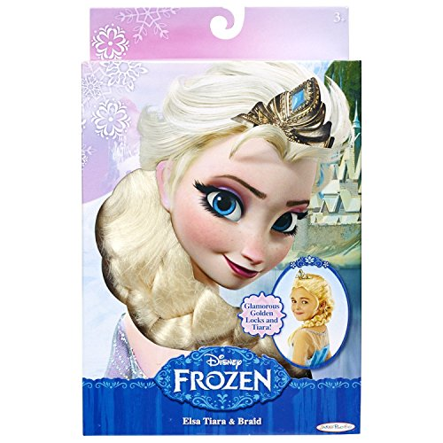 Disney Frozen Elsa Tiara and Braid and 5 Piece Jewelry Set Combo Pack