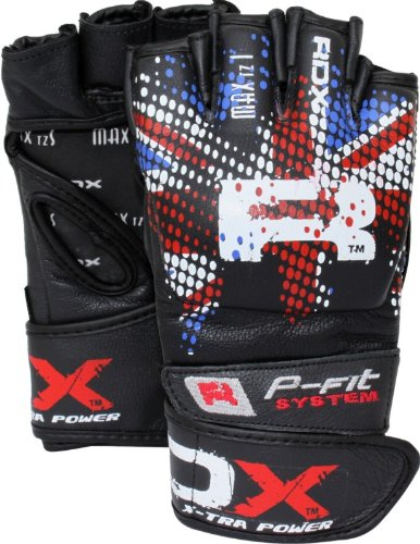 Auth RDX Cow Hide Leather Grappling Fight Gloves MMA,Boxing UFC Cage, Medium