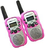 A Pair Zastone T-388 Mini Walkie Talkie 1W 462-467MHz Two Way Radio Pink