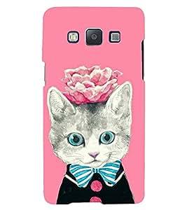 PRINTSHOPPII KITTY WITH FLOWER Back Case Cover for Samsung Galaxy J5::Samsung Galaxy J5 J500F