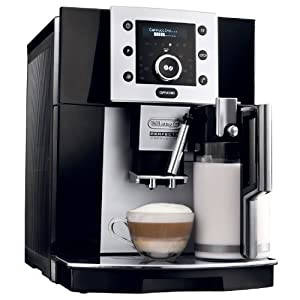 Delonghi ESAM5500B Perfecta Digital Super Automatic Espresso Machine with Cappuccino Function, Black by Delonghi
