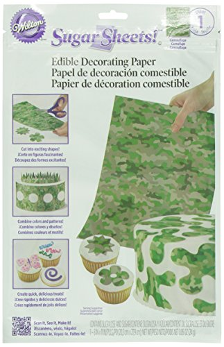 Wilton 710-2910 Camouflage Sugar Sheets for Food Decorating Tool (Food Decorating Tools compare prices)