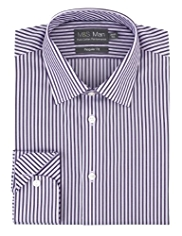 Performance Pure Cotton Non-Iron Easy Care Striped Shirt