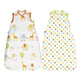 Grobag Twin Pack Wash & Wear Baby Sleeping Bag 1.0 Tog Hippo Hop & Spot