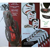 """Boys """"AVT"""" 13 Piece Combo Golf Club Set w460cc Driver+3Wd+Hybrid+Stand Bag+Free Putter; Tween or Teen or Tall Length: Fast Shipping"""