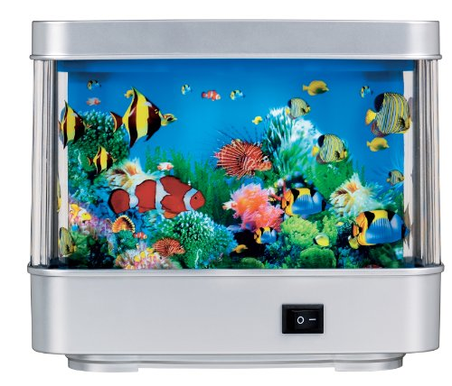 Rotating Ocean Aquarium Picture Motion Moving Lamp Night
