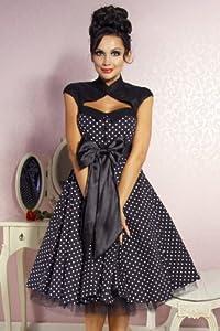 Vintage Rockabilly - Kleid FIFTIES 50er Jahre schwarz/weiß Rock´n´Roll & Boogie from Atixo