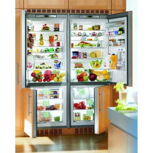 Liebherr Sbs-32i0 30.9 Cu. Ft. Capacity 4 Zone Built-in Side-by-side Refrigerator / Freezer - Custom Panel Doors / Stainless Steel Cabinet