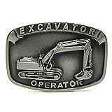 Excavator Operator Vintage Fire Fighter Department Mechanic Men Belt Buckle Lot Metal Occupational