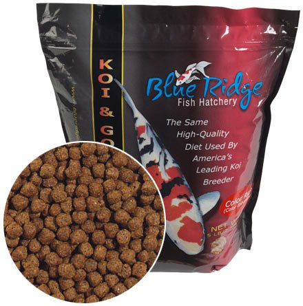 5 pound color rich formula koi goldfish pellet food for Koi fish food for sale