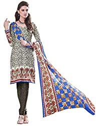 PADMiNi Ethnicwear Women's Dress Material Multi-Coloured Free Size