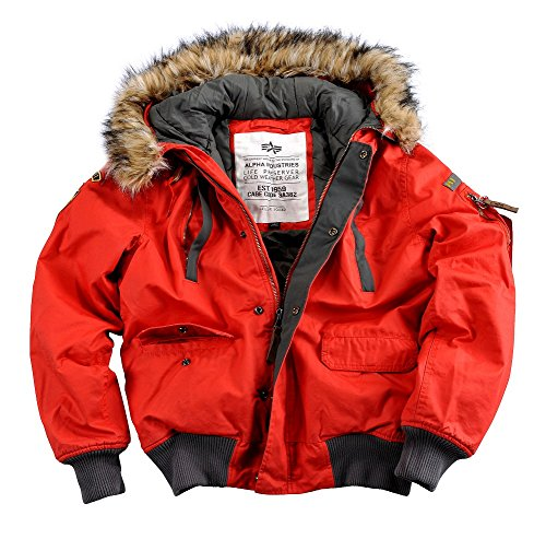 Alpha Industries Mountain giacca uomo giacca invernale 30206 rosso XXXL