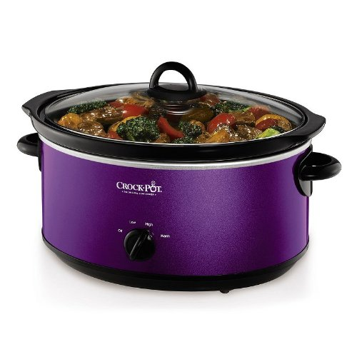 Crock-Pot 7-Quart Purple Oval Manual Slow Cooker