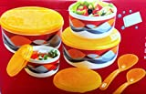 Arrison Nayasa Allora microsafe Bowl 4 container with lid & 2 serving spoon
