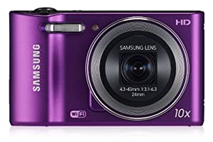Samsung WB30F Smart Camera 2.0 with Built-In Wi-Fi Connectivity - Plum (16MP, 10x Optical Zoom) 3.0 inch LCD