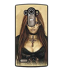 PrintDhaba Scary Girl D-5414 Back Case Cover for LG G4 (Multi-Coloured)