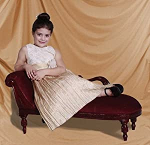 Girls Pink Solid Mahagony Victorian Reproduction Swan Couch Chaise Lounge Also Great For Princesses Professional Photography Prop Or Your Royal Cat Or Dog from JazTy Kids Furniture