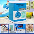 Eflar Code Electronic Money Bank,Mini ATM Coin Saving Banks,Coin Saving Boxes,Toys Gifts Birthday Gifts for Kids - Green