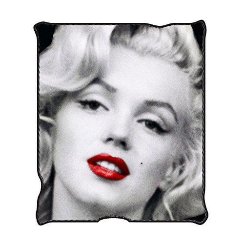 Marilyn Monroe MR1621 Red Lips Fleece Throw Blanket, 50 x 60