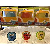 Sesame Street Beginnings 5oz Baby Bottles (Set Of 3) - BPA Free