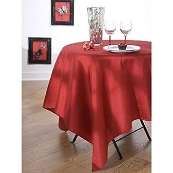 calitex nappe en tissu tissu ovale 180x240 cm effet effet soie rouge cuisine maison m417. Black Bedroom Furniture Sets. Home Design Ideas