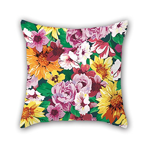 PILLO Pillow Shams 16 X 16 Inches / 40 By 40 Cm(two Sides) Nice Choice For Relatives,sofa,wedding,kids,wedding,valentine Flower (Fish Tank Filler Hose compare prices)