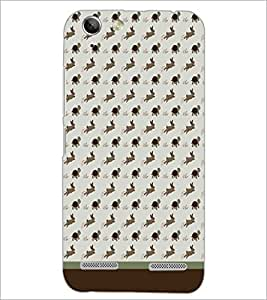 PrintDhaba Animal Pattern D-1762 Back Case Cover for LENOVO A6020a46 (Multi-Coloured)