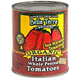 Bella Terra San Marzano Italian Tomatoes-Whole Peeled, 28-Ounce Cans (Pack of 6) ~ Bella Terra
