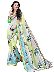 Look N Buy Appealing Multi Coloured Embroidered Saree
