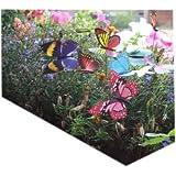 Colourful Garden Butterflies on Sticks x10. Dia 8cm