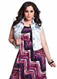 Ashley Stewart Womens Plus Size Cloud Wash Denim Vest