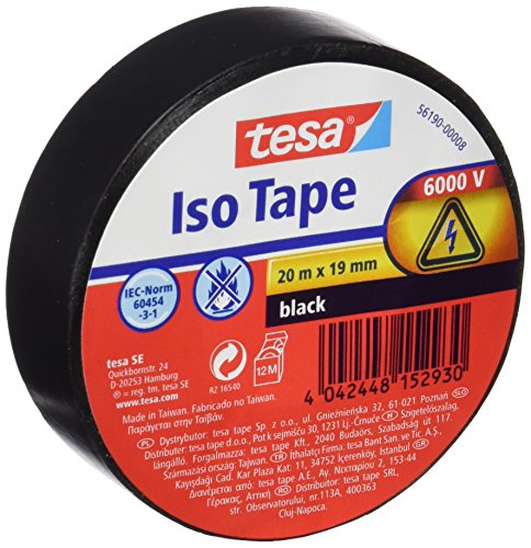 TESA 56190-00008 tape - tapes (Black)