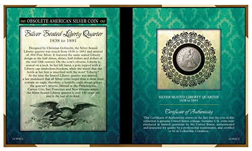 Obsolete American Silver Coin - Seated Liberty Silver Quarter