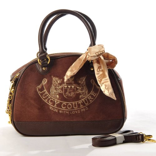 Juicy Couture Embroidery Travel Outdoor Dog Cat Pet Carrier Handbag Tote Purse Coffee
