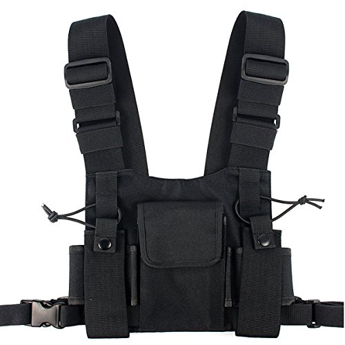 Lewong Universal Radio Chest Harness Bag Pocket Pack Holster for Two Way Radio (Rescue Essentials) (Walkie Talkie Harness compare prices)