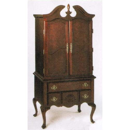 Tv armoire stand with queen anne style legs - Queen anne bedroom furniture cherry ...