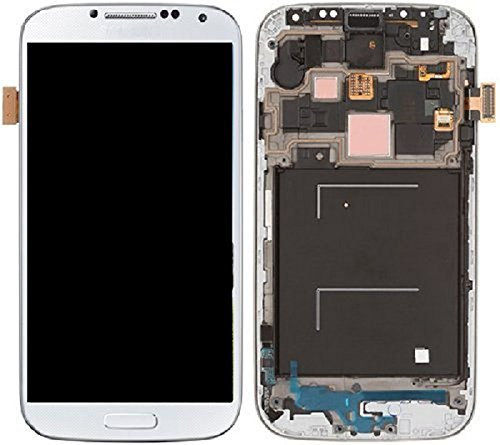 New Oem Complete Front Lcd Display Touch Screen Digitizer Assembly With Frame&Home Button Replacement For Samsung Galaxy S4 Iv I337 At&T M919 T-Mobile, Dhl Shipping (White)