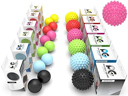 Spiky Acupressure Massage Balls by Physix Gear Sport (Xtra Firm) Pink