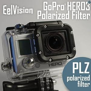 EelVision Polarizer Filter for GoPro HERO4 / HERO3/3+ - Polarizing Accessory Surf Ski Snow