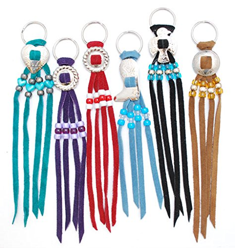 Concho Key Rings, Assorted Styles & Colors