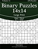 Binary Puzzles 14×14 Large Print – Easy to Hard – Volume 11 – 276 Puzzles