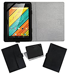 ACM LEATHER FLIP FLAP TABLET HOLDER CARRY CASE STAND COVER FOR DIGIFLIP PRO XT712 TAB BLACK