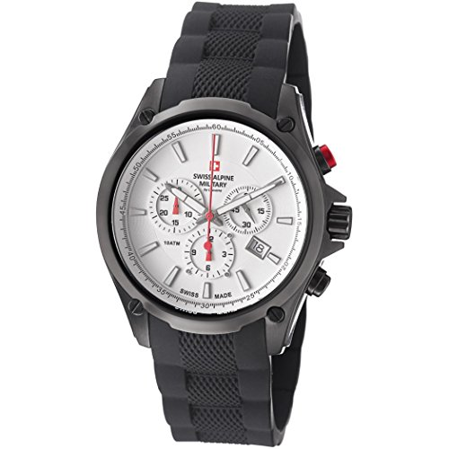 Swiss Alpine Military Red Force Men's 44mm Chronograph Date Watch 1635.9872 SAM