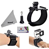 DEYARD Wrist Mount for HERO Cameras Hero4 Session Hero4 3+ Hero3 Hero2 GoPro 1 Wrist Strap + Thumb Screw Knob