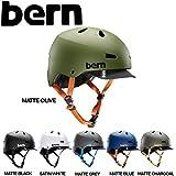 【BERN】バーン/MACON メンズヘルメット オールシーズンモデル 耳あてなし HARD HAT/JPNサイズ表記XS〜XL/6カラー/ジャパンフィット skate メーコン スケート 男性向け MatteBlack M