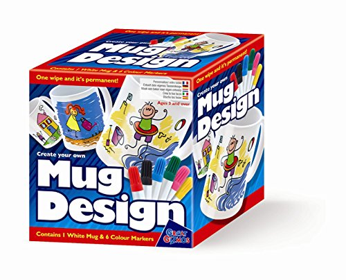 Create Your Own Mug Design - Markers - Girls Boys Kids Children - Arts & Crafts Activity Set - Best Selling Birthday Present Gift Fun Toys & Games Idea Age 3+