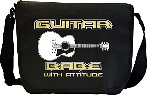 Acoustic Guitar Babe Attitude 3 - Sheet Music Document Bag Borsa Spartiti MusicaliTee