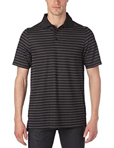 Under Armour UA Core Pique Stripe Polo manches courtes homme Noir M