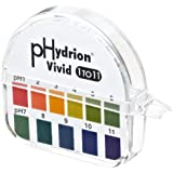 Micro Essential Lab 51 Hydrion Wide Range pH Test Paper Dispenser, 1 - 11 pH, Single Roll