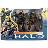 Halo 2009 McFarlane Toys Deluxe Action Figure Boxed Set Red Team Leader & Master Chief 2Pack ~ McFarlane